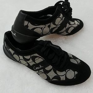 Coach 'Baylee' size 6 Black and white sneaker